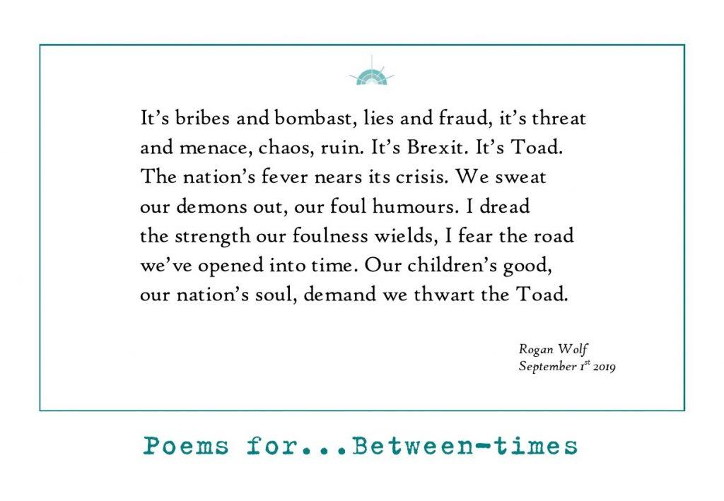 Rogan Wolf – Poet and Social Worker